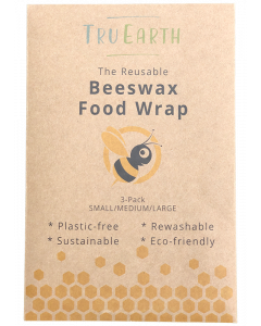 Tru Earth Beeswax Food Wrap (assorted size x3 - Small, Medium, Large)