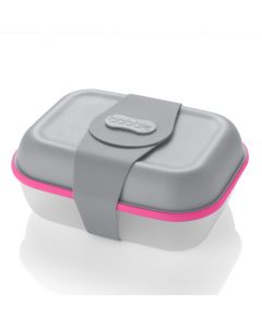 bobble box 1.8 ltr/60 fl oz - grey (with neon pink seal)