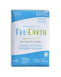Tru Earth Eco-Strips Laundry Detergent - Fresh Linen - 32 loads - mailer.