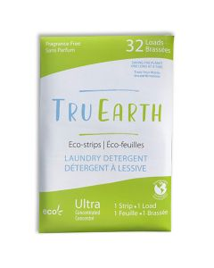 Tru Earth Eco-Strips Laundry Detergent - Fragrance Free - 32 load - mailer