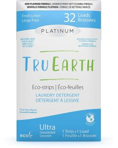 Tru Earth Eco-Strips Laundry Detergent - Platinum Fresh Linen - 32 loads