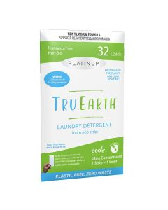 Tru Earth Eco-Strips Laundry Detergent - Platinum Fragrance Free - 32 loads